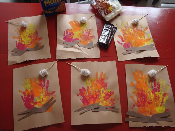 Hand print bunfire