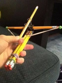 pencil bow and arrow