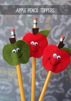 Apple pencil or fork toppers for table deco