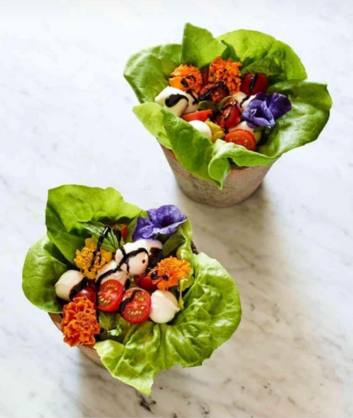 Salad vases for shavuot